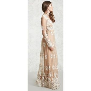 Boho Lace Maxi Dress Size Medium